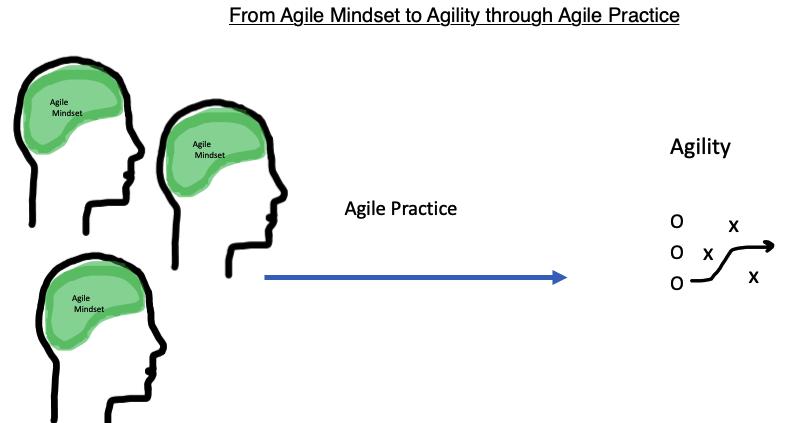Agile Mindset to Agility through Agile Practice