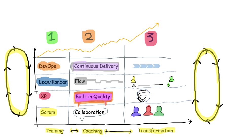 Gradual Agile Transformation with Customization of Agile Practices