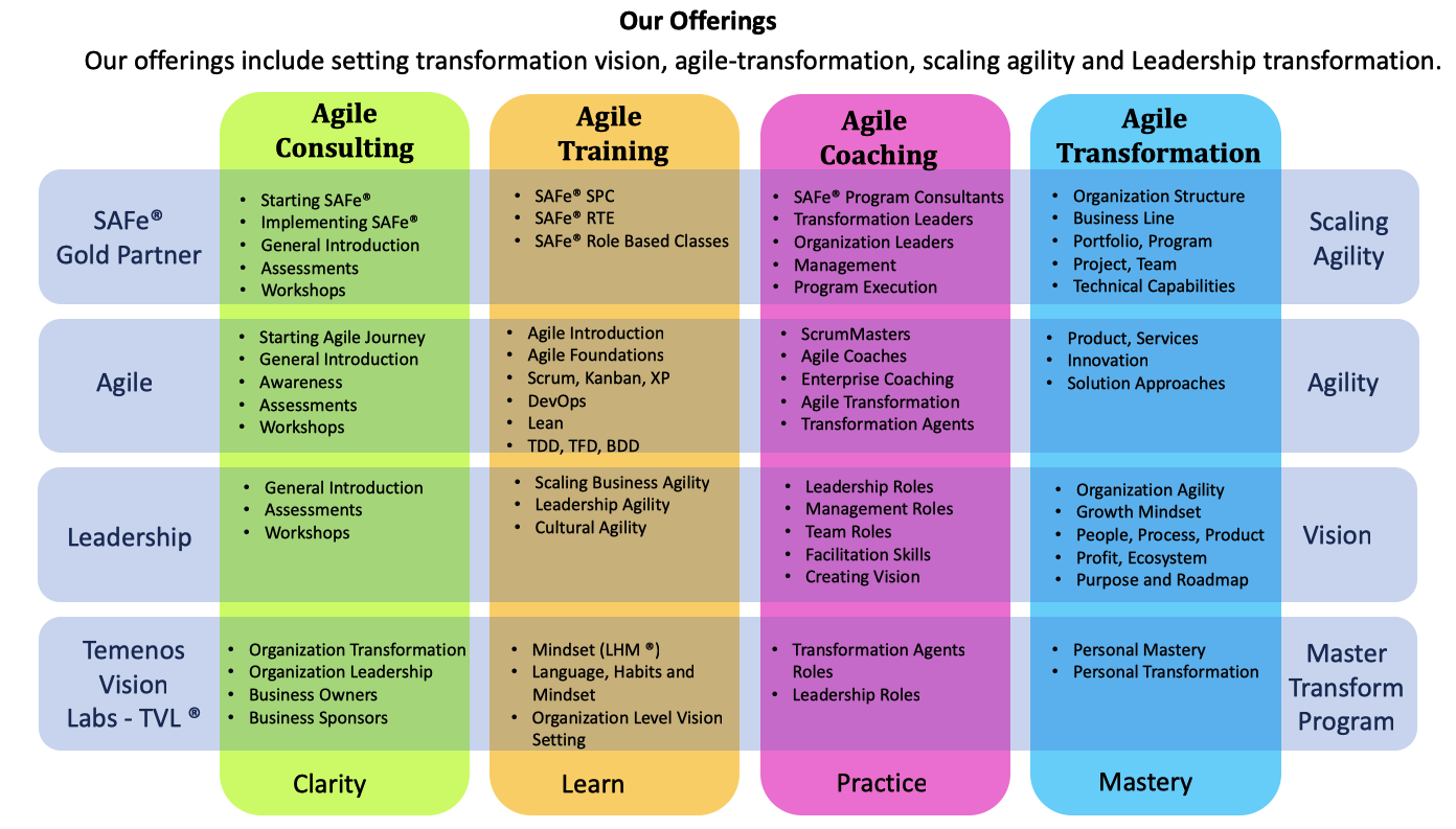Temenos + Agility Agile Transformation Service Offerings