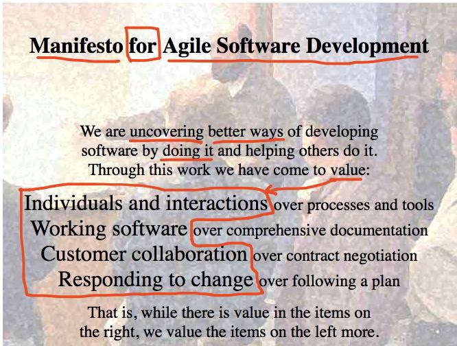 Agile Manifesto Values